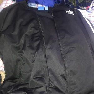 Adidas bomber size medium . Black and white